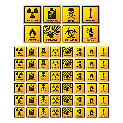 160PC Prank Stickers 1.5' & 3.5' - Radiation Biohazard Pranks Funny Bumper Gag Stickers for Adults - Funny Electrical Outlet Decals for Rectaluse Only Motion Activated Practical Jokes Random Stuff