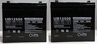 Universal Power Group 12V 55AH Pride Mobility Jazzy 600, 600 XL, 614, 614HD Battery - 2 Pack