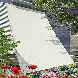GROOVY OUTSTYLE オーニング シェード 撥水 雨除け バルコニー ベランダ ガーデン 庭日除け シェード すだれ シート プライバシー UVカット 簡単設置 ハトメ 固定ロープ 付属