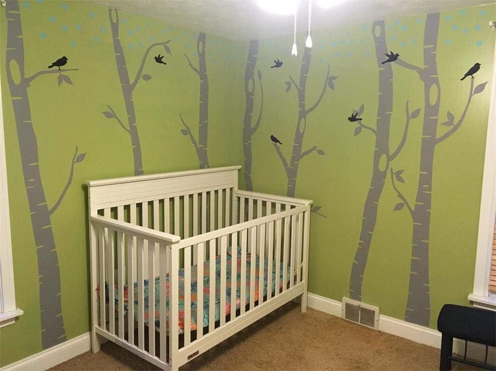 Buy Fymural Forest And Deers Tree Wall Stickers Art Mural Wallpaper For Bedroom Kid Baby Nursery Vinyl Removable Diy Decals 118 1x102 4 Grey Black Online In Vietnam B06xcljw33