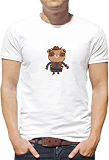 Sheriff Teddy Bear Western_006188 T-Shirt Shirt Tshirt For Camiseta para la Hombres Hombre