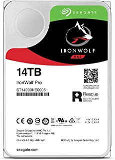 Seagate IronWolf Pro 14 TB NAS RAID Internal Hard Drive - 7,200 RPM SATA 6 Gb/s 3.5-inch (ST14000NE0008)