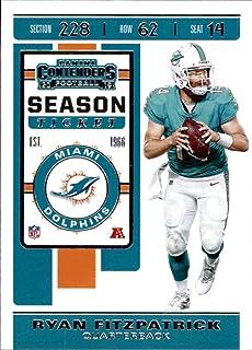 2019 Panini Contenders #6 Ryan Fitzpatrick Miami Dolphins Football Card