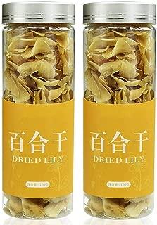 百合干120g*2缶 ユリの花 乾燥百合 茶葉 自然栽培 無添加100% 花茶 中国花茶