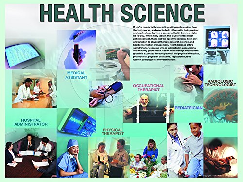 Health Science Job Description and Facts Extra Large Laminated Poster Perfect for Career Day, Career Guidance, VoTech, High School Graduates