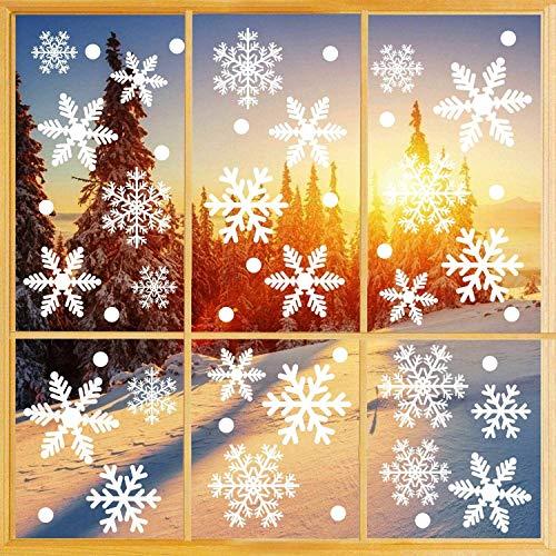 S Pegatinas, 162 PCS Pegatinas de ventanas de copos de nieve blancos...