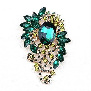 CBCJU Moda Personalidad Creativa Broche de Cristal Forma Hermosa Mujer 's Accesorios de Cena 9.3 * 5.8cm