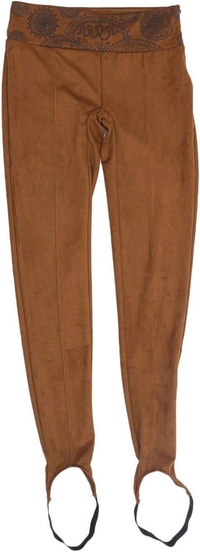 Desigual Women's 18WWPK13BROWN Brown Polyester Pants