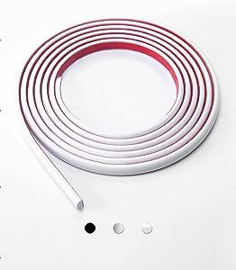 Art3d 10 Ft Peel and Stick Trim for Backsplash Tile Edge, Self-Adhesive Liner for Corner Decor in White