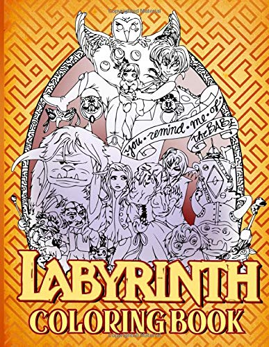 Labyrinth Coloring Book: An Adult Coloring Book, Paperback (66 pages)