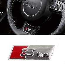 BOLLAER Calcomanía Adhesiva para el Interior del Volante S-Line (2 Piezas), de PVC, para Audi A3 A4 A6 Q5 Q7 Q3