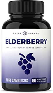 Sponsored Ad - Elderberry Capsules 11,550mg - Premium Supplement for Powerful Immune System Support - Black Elder Berry Ex...
