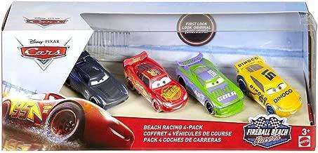 Action Fireball Beach Disney Cars Cam Spinner Lightning McQueen Cruz Ramirez Sheldon Shifter 4 Pack 1 55 Scale Diecast
