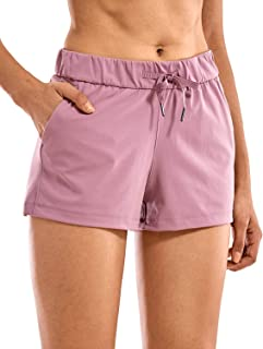 CRZ YOGA Women's Stretch Casual Lounge Shorts Sports Athletic Workout Shorts with Pockets -2.5 Inches