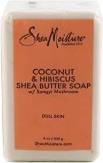 Shea Moisture Soap 8 Ounce Bar Coconut & Hibiscus Shea Butter (235ml) (6 Pack)
