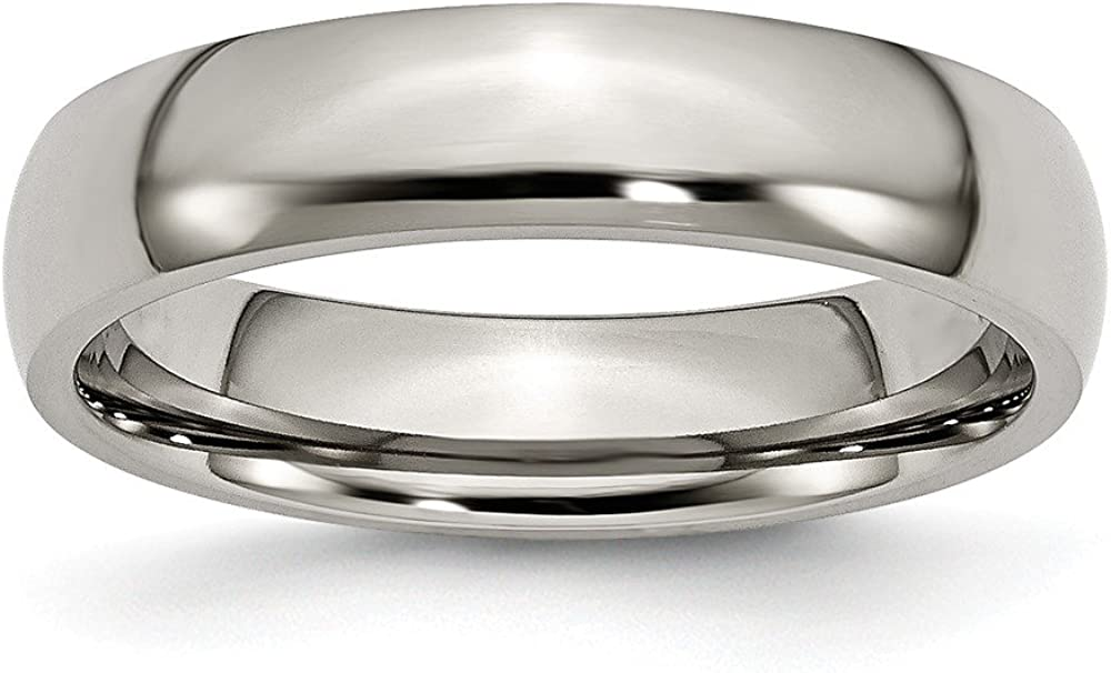 Sonia Jewels Titanium 5mm Polished Wedding Band