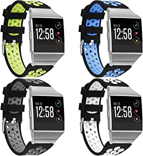 Classicase コンパチブル Fitbit Ionic 時計バンド 交換バンド (4-Pack H)