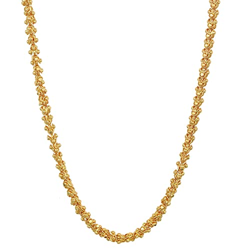 Charms Handmade Elligant Gold Plated Chain for Boys & Men (Golden)(ch-038e)
