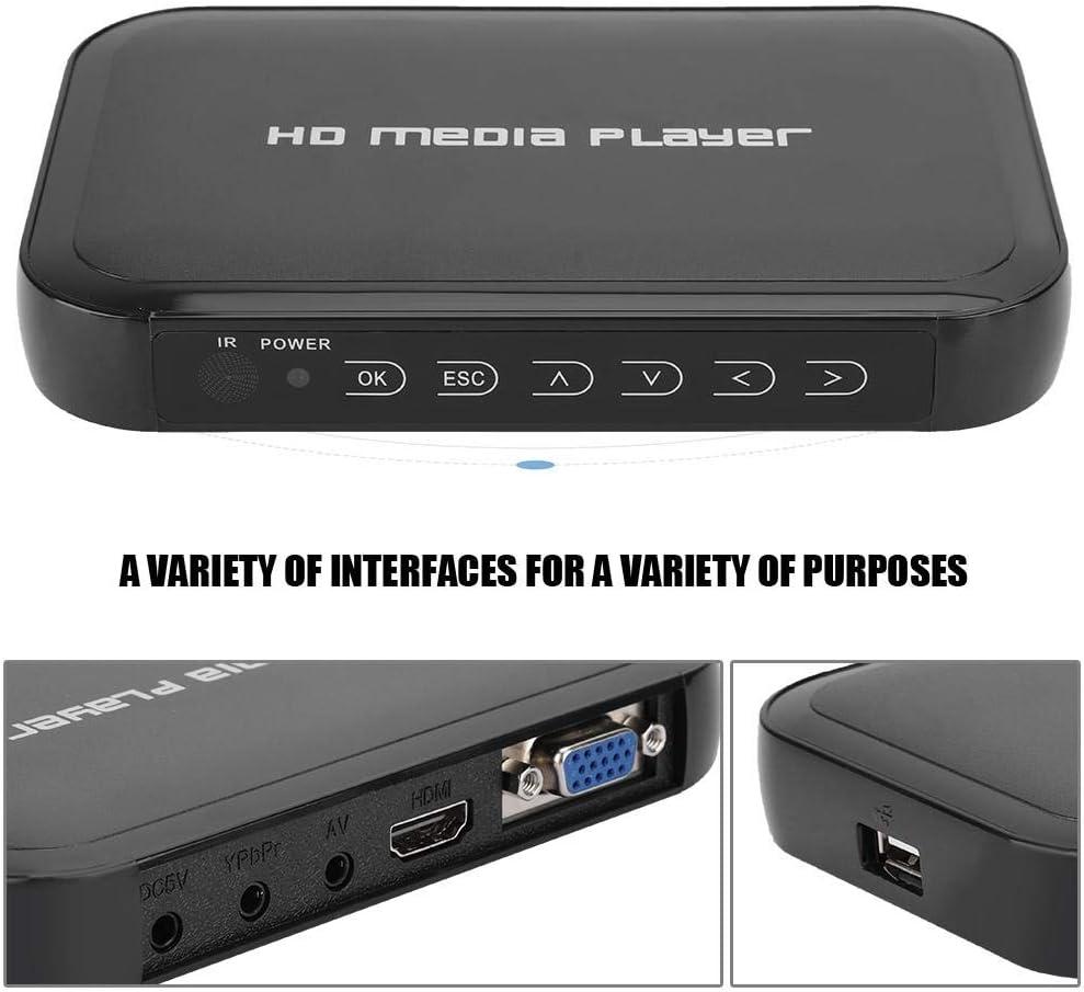 eu 1080 P Mini-HDMI-Multimedia-Player Unterst/ützung SD//MMC-Karte Garsent HDMI-Player U-Disk Mobile Festplatte Netzwerk-Video-Festplatten-Player f/ür das Heimkino-System.