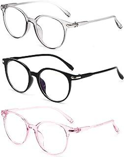 Blue Light Blocking Gaming Glasses Spectacles Anti Eyestrain Glasses Eyewear Retro Vision Care Anti Glare for PC Laptop Ga...
