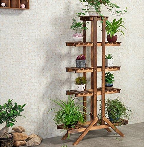 Supports de fleur de bois grillé de charbon de bois de mode/présentoir de plancher de style de fleur de pot de fleur de présentoir