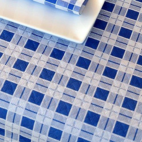Chiner - Rollo Mantel Papel 1 x 100 metros Cuadros (Azul)