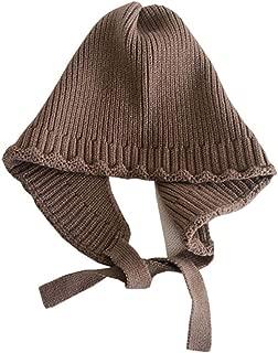 Xiang Ru Baby Knitted Cartoon Ear Flap Beanie Hat Cute Winter Warm Hat Khaki