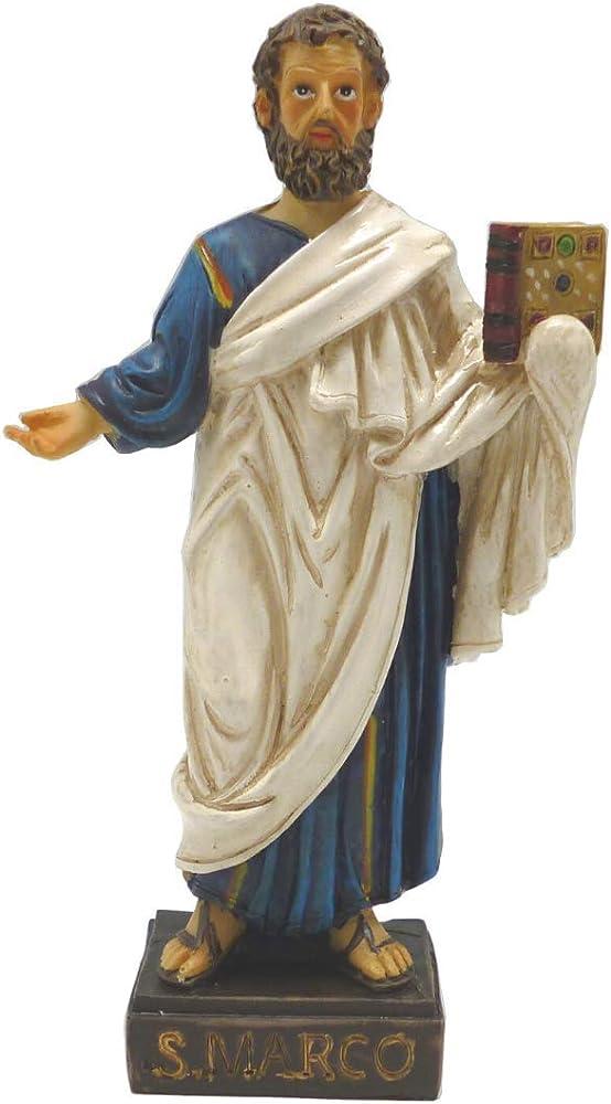 Dell`arte articoli religiosi - statua di san marco, in poliresina, cm 13