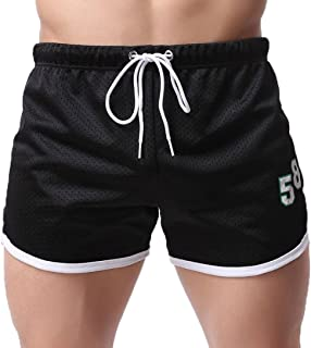 ba93bda9ed78a RAISINGTOP Summer Men Sports Sweatpants Shorts Breathable Gym Fitness  Running Joggers Fashion Casual Pants Lightweight
