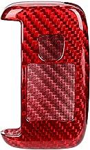 Car Key Cover, Carbon Fiber Key Case Smart Key Folding Case Shell Auto Key Cap Protector Fit for Freelander 2 2013-2017(Red)