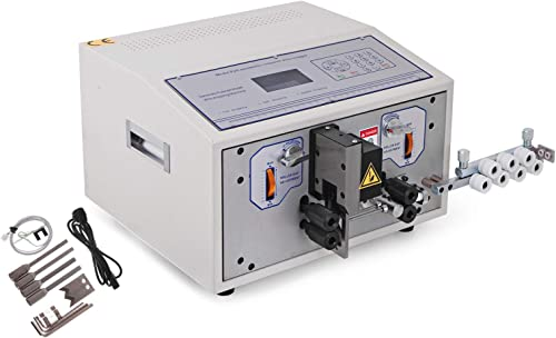 discount Mophorn SWT508-SDB Computer Wire Stripping Machine Dual-channel stripping 0.1-2.5mm² Automatic Wire Cutting Stripping Peeling Machine 5000-10000 PCS popular per hours Computer Wire online sale Stripping Tool sale