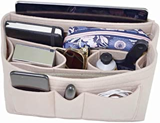 Handbag Organizer - 2in1 Bag Purse Tote Felt Insert with Zipped Waterproof Pocket. Ideal hand luggage travel accessories