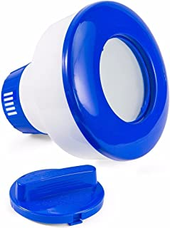 8 inch Deluxe Large Blue and White Floating Swimming Pool Chlorine Dispenser