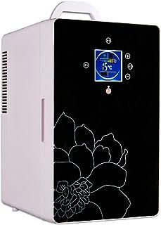 Mini-Kühlschrank für Getränkekeller 2 in 1 geräuschloser Kleiner Getränkekühler Retro Silent 16L mit Temperaturregelung (-8 ℃ -65 ℃) 12V DC / 220V AC ist geeignet für Auto und Haushalt,Schwarz,Kühls