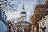 HD Annapolis Maryland - The Maryland State House 9002844 (Premium 1000 Piece Jigsaw Puzzle for Adults 19x27)