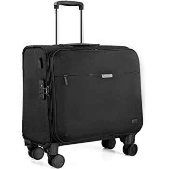 Hanke 18 Inch Rolling Laptop Briefcase Rolling Computer Case Fits 15.6'' Notebook with Detachable Wheels Roller Bag Carry On Luggage Built-in TSA Lock for Women Men