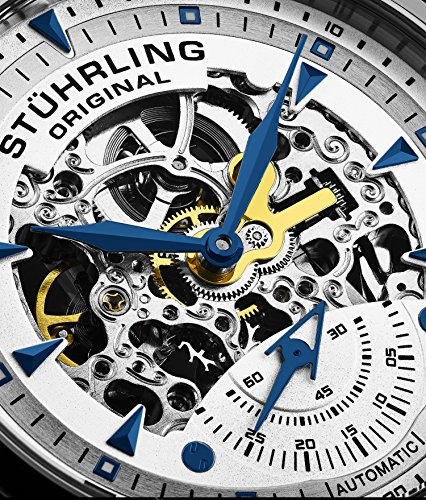 Stuhrling Original Symphony Aristocrat Executive Men's Automatic Watch with Silver Dial Analogue...