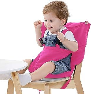 Vine ベビーチェアベル 収納ポケット付きチェアベルト 携帯便利 調整できる 幼児旅行の安全 ピンク
