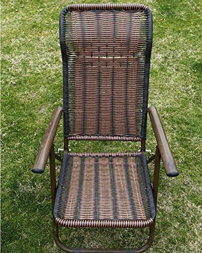 GAOJIAN Chaise Pliante en rotin Home Balcon Fauteuil de Loisirs Chaise en métal Rattan Rond en métal pesant 130kg