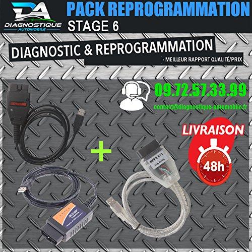 Mister Diagnostic® – Kit de reprogrammation de calculatrice, interface ELM327, USB, V13, Galletto 1260
