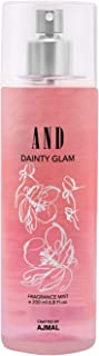 AND Dainty Glam Body Mist 200ML for Women Crafted by Ajmal + 2 Parfum Testers