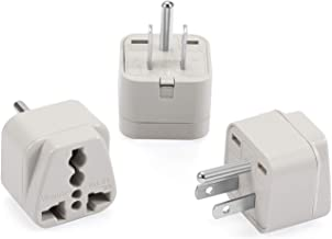 Wonpro Grounded Travel Plug Adapter Type B for US, Canada, Japan, Mexico - CE Certified - 3 Pack