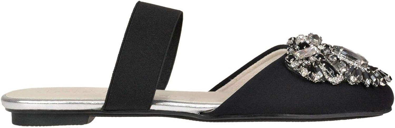 RAPISARDI Women's MCGLCAB000005035E Black Fabric Sandals