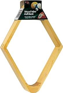 Viper Billiard/Pool Table Accessory: 9-Ball Rack, Hardwood Diamond, Holds Standard 2-1/4
