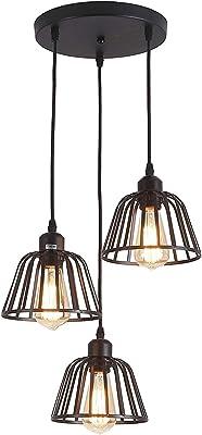 Lámpara colgante retro en diseño vintage, lámpara de techo ...