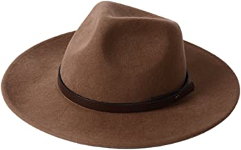 Wide Brim Fedora Hat Western Wool Cowboy Felt Hats Men Women Crushable Outback Trilby Caps Outdoor Halloween Costume Gift