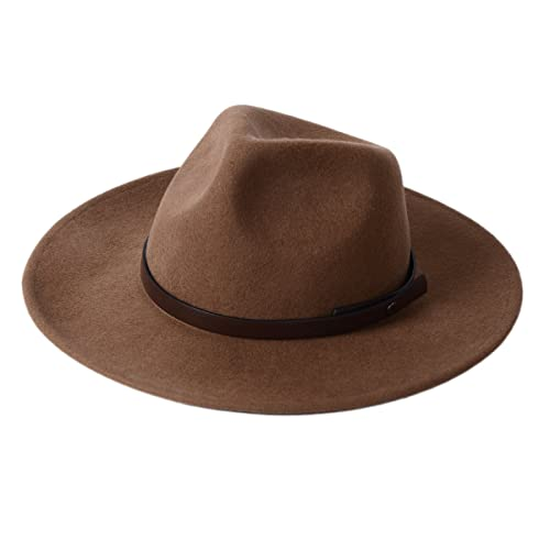 a2ab614d Western Cowboy Hat-Wool Fedora Felt Hats Men Women Crushable Wide Brim  Trilby