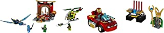 LEGO Juniors Lost Temple 172pcs & Juniors Iron Man vs. Loki 66pcs Playset 2 Pack Building Toys