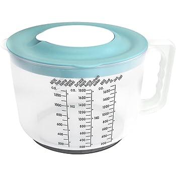 Messbecher Mixbecher Rührschüssel mit Spritzschutzdeckel Schüssel 2 Liter Neu