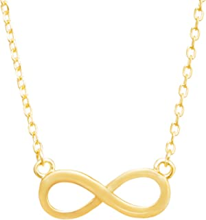 Infinity Charm Necklace [Eternal Collection] - Link Chain - Yellow Gold Plated
